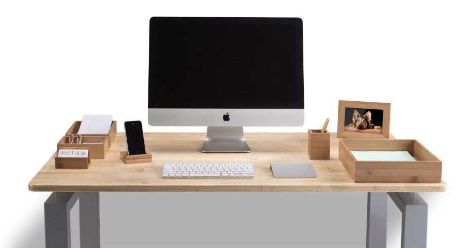 Bamboo Desk Organizer Set by UPLIFT Desk