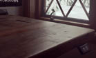 Enjoy the view from your new artisan reclaimed wood desk