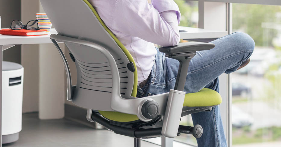 ergonomic chair review the steelcase leap human solution