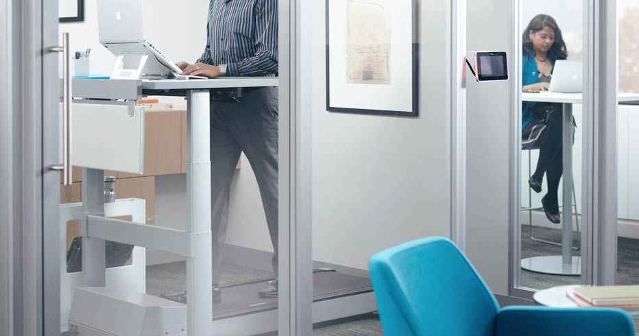 While Treadmill Desk Work Stations Are On The Rise Space Required For Them May Be A Little More Than Everyone Can Accommodate