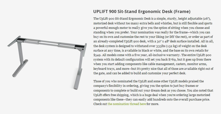 But, If You Want To Hear It Straight From The Horseu0027s Mouth, The Lifehacker  Review Of The UpLift 900 Height Adjustable Standing Desk Reads As Follows: