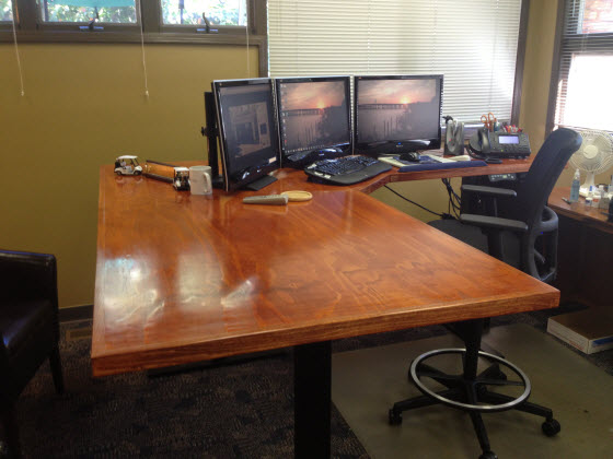 customers get creative with desktops on diy standing desks