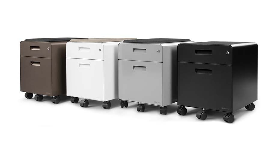 2-Drawer File Cabinet with Seat, Rolling by UPLIFT Desk